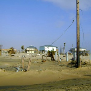 Bolivar Peninsula after Hurricane Ike